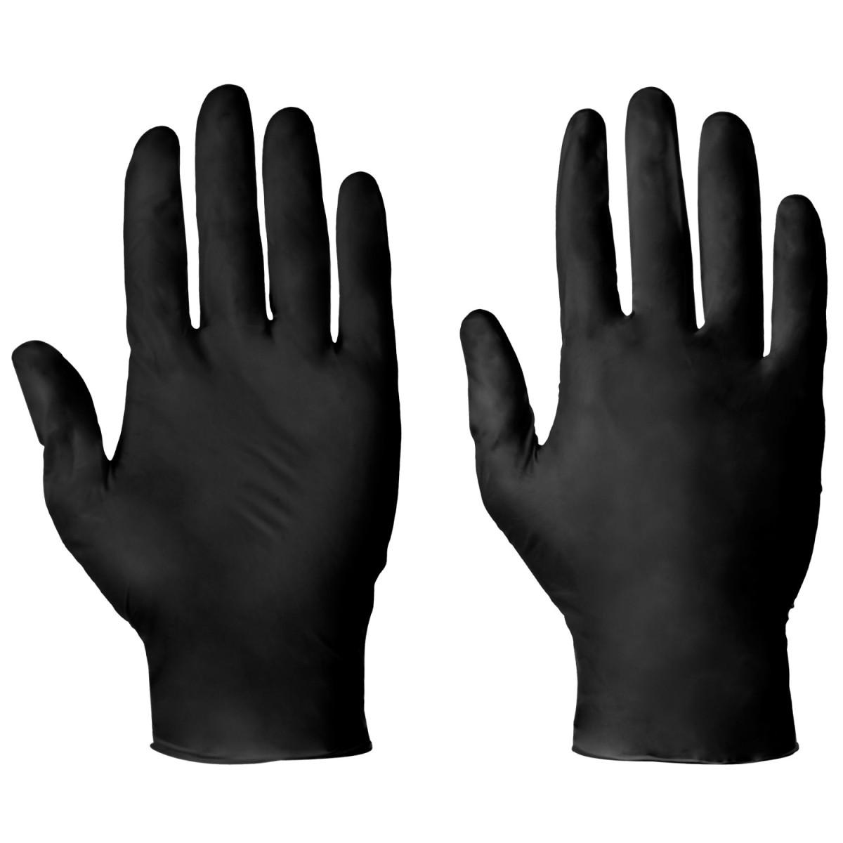 Nitrile Examination Gloves Black 100 pcs