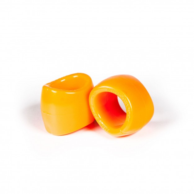 Zizi Plasma Cock Ring & Ball Stretcher 2 pcs Fluo Orange