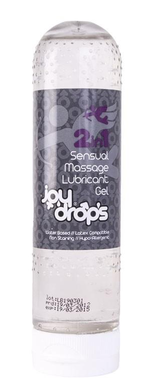 JoyDrops 2-In-1 Sensual Massage Lubricant Gel 125 ml