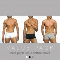 ES Collection UN185P 3 Pack Basic Cotton Boxer