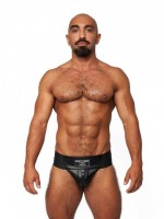 Mister B Leather Premium Jockstrap Black