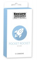 Secura Pocket Rocket Condoms 12 Pack