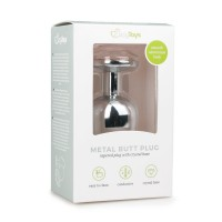 EasyToys Metal Butt Plug No. 6 Silver/Clear