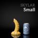 Weredog Skylar Dragon Dildo Cobalt/White Small