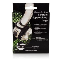 CalExotics Silicone Tri-Snap Scrotum Support Ring Large