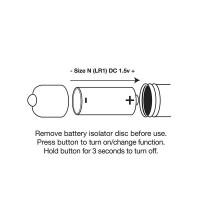Rocks-Off RO-80mm Midnight Metal Vibrating Bullet