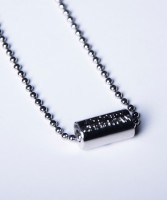 Andrew Christian Cross Barrel Necklace