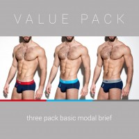 ES Collection UN248P 3 Pack Basic Modal Brief
