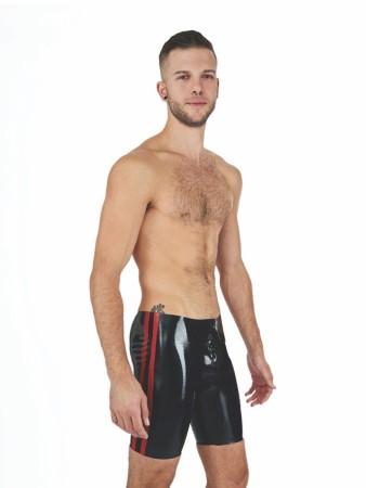 Mister B Rubber Fucker Shorts Black-Red