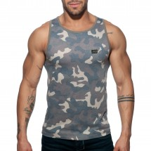 Addicted AD801 Washed Camo Tank Top Camouflage