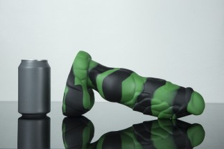 Weredog Gage Dragon Dildo Jet/Evergreen Marbled Large