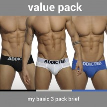 Addicted AD420P My Basic 3 Pack Brief