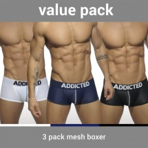Addicted AD477P Mesh Boxer Push Up