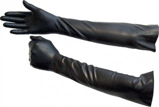 Mister B Rubber Gloves Elbow-Length Black